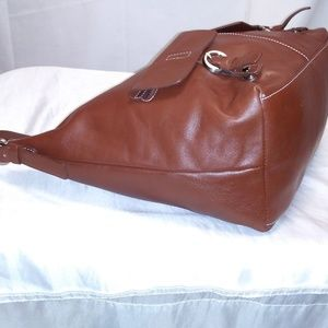 Wilsons Leather Bags - Wilson Leather Brown Large Leather Hobo Handbag